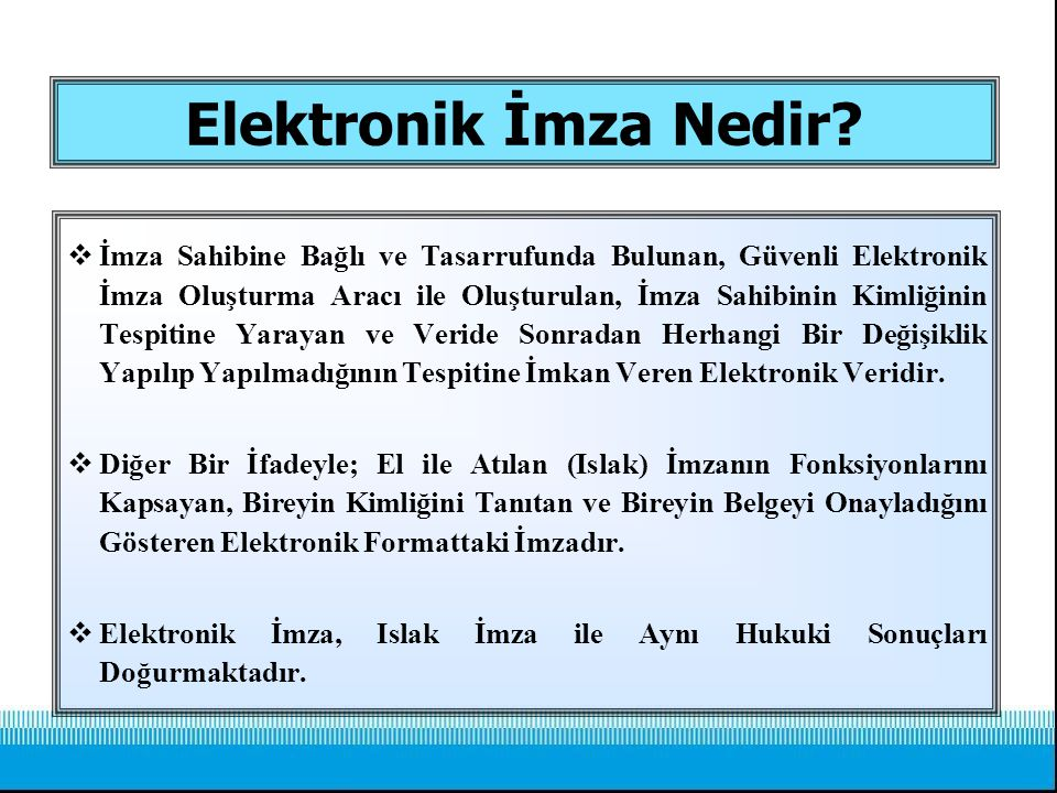 Elektronik İmza Nedir