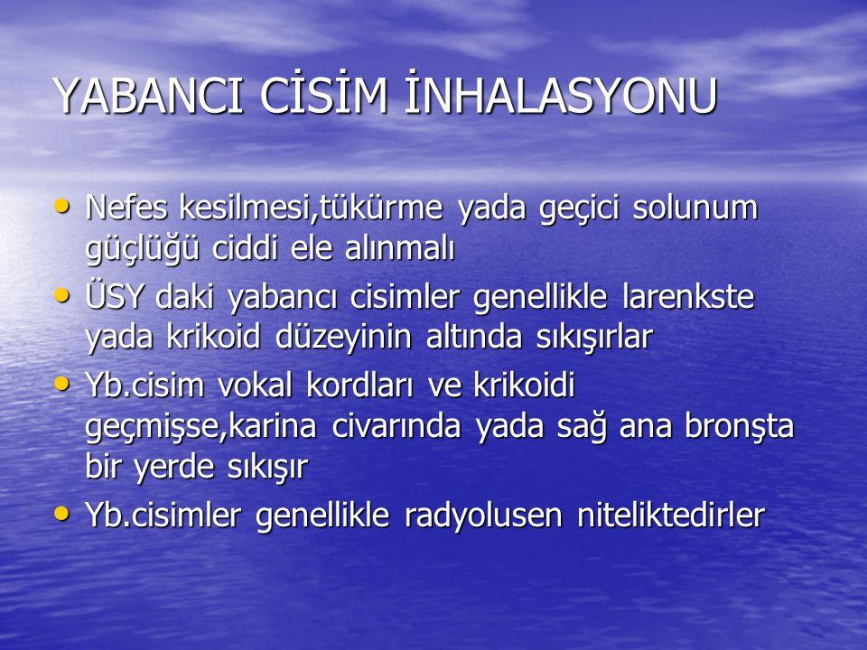 YABANCI CİSİM İNHALASYONU