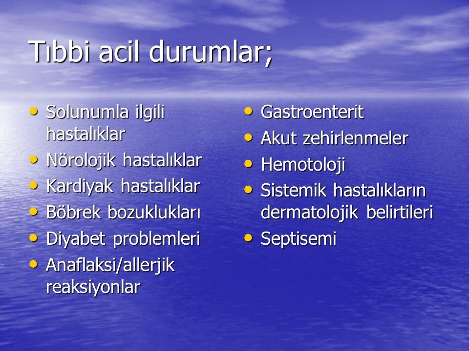 Tıbbi acil durumlar; Solunumla ilgili hastalıklar
