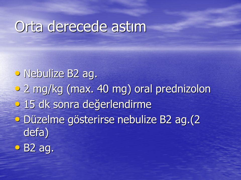 Orta derecede astım Nebulize B2 ag.