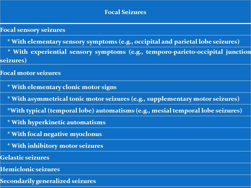 Focal sensory seizures