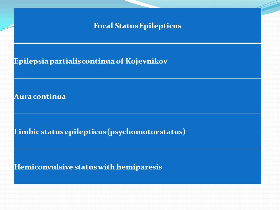 Focal Status Epilepticus