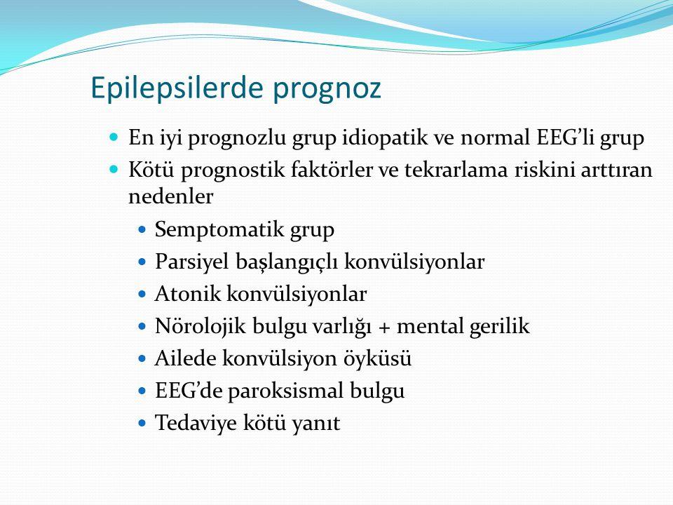Epilepsilerde prognoz
