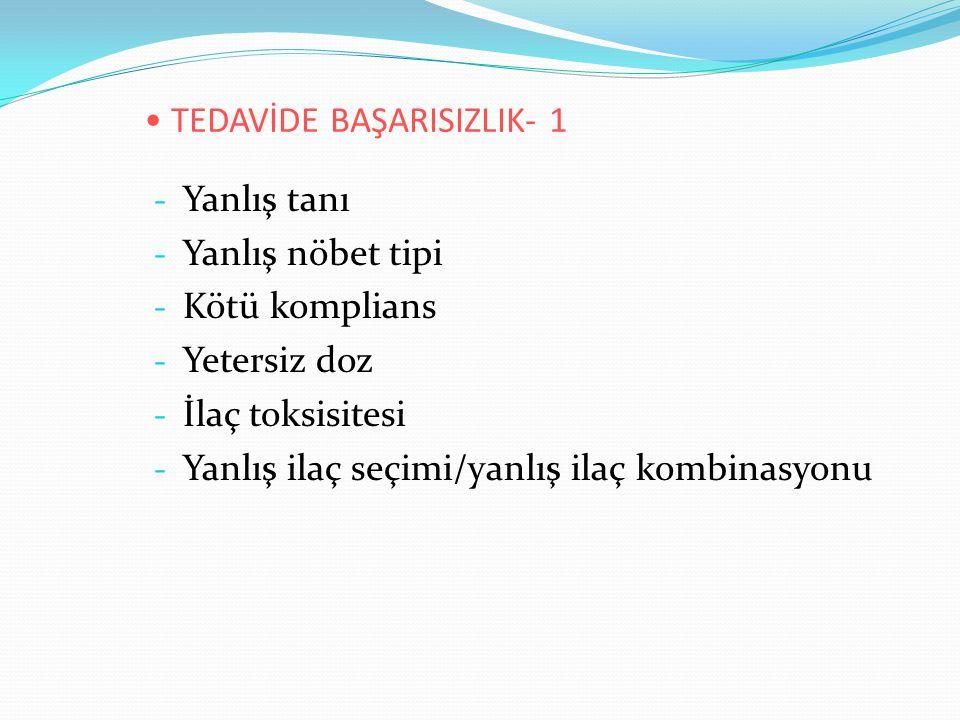 TEDAVİDE BAŞARISIZLIK- 1