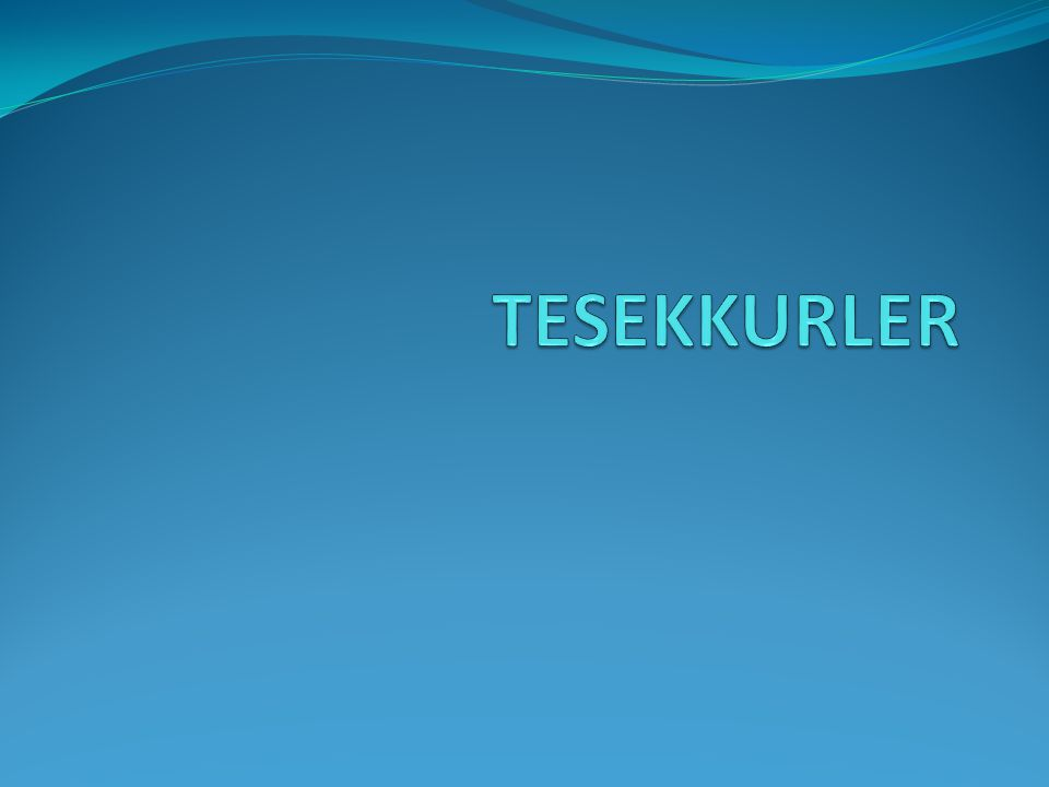 TESEKKURLER