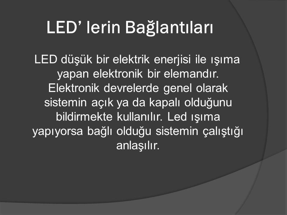 LED' lerin Bağlantıları