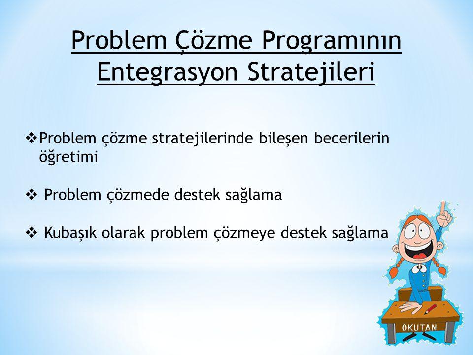 Problem Çözme Programının Entegrasyon Stratejileri