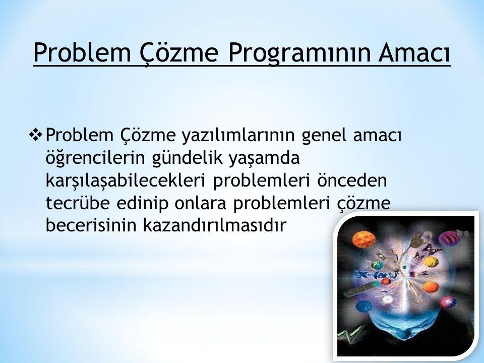 Problem Çözme Programının Amacı