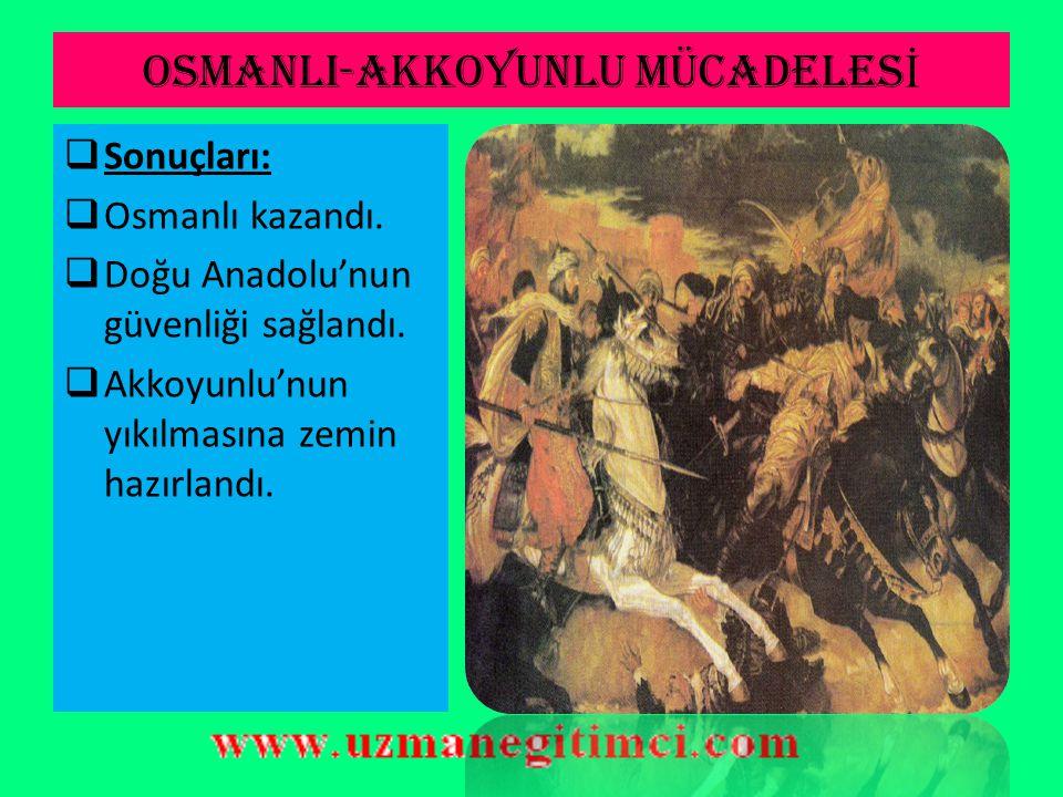 OSMANLI-AKKOYUNLU MÜCADELESİ