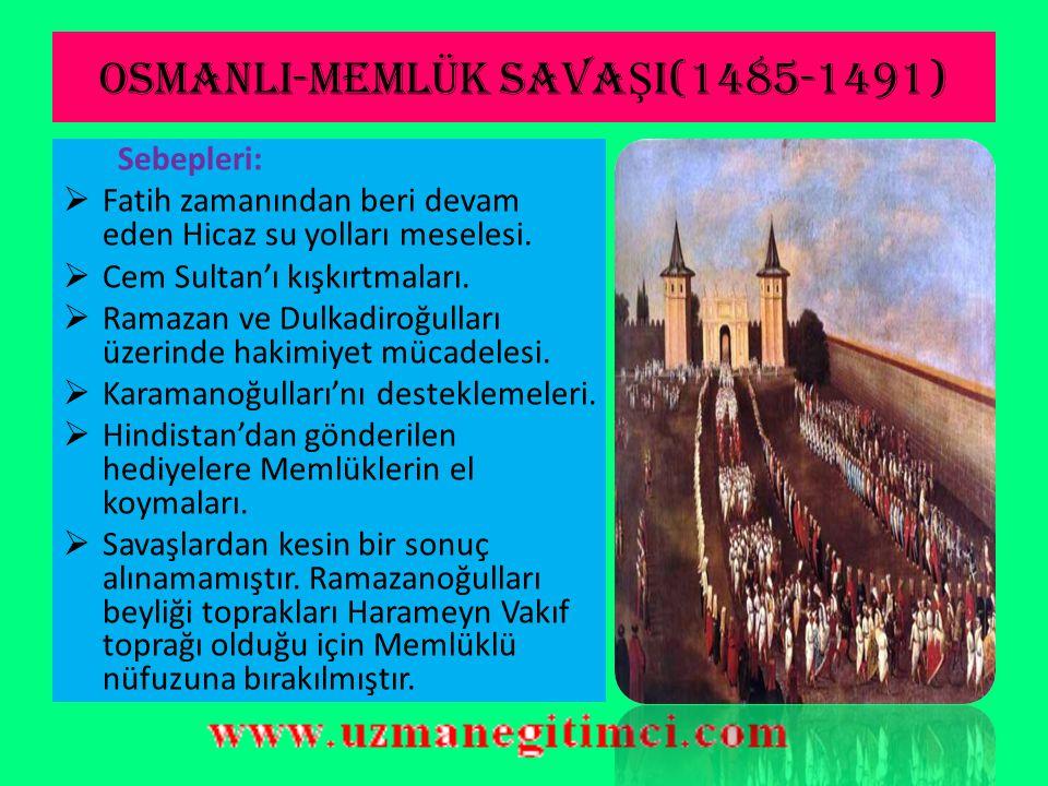 OSMANLI-MEMLÜK SAVAŞI(1485-1491)