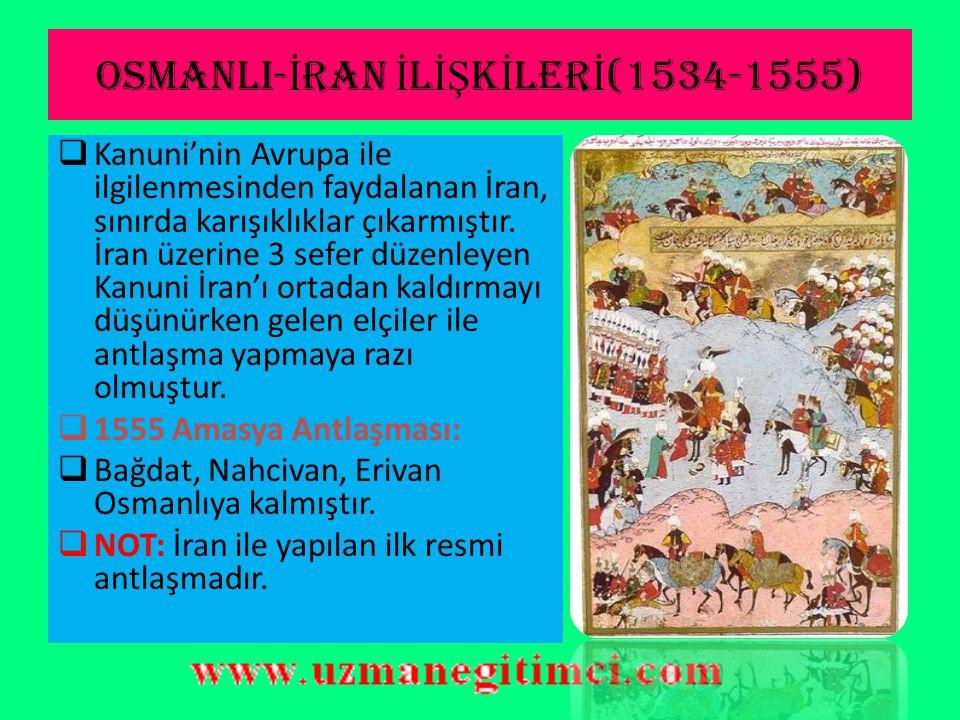 OSMANLI-İRAN İLİŞKİLERİ(1534-1555)