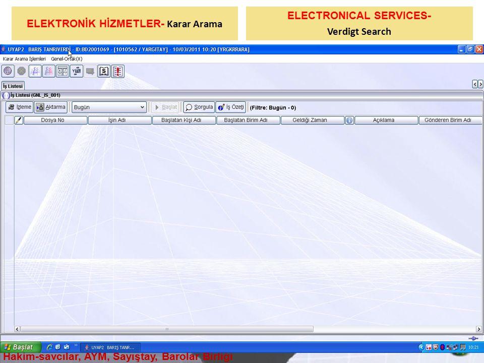 ELEKTRONİK HİZMETLER- Karar Arama ELECTRONICAL SERVICES-