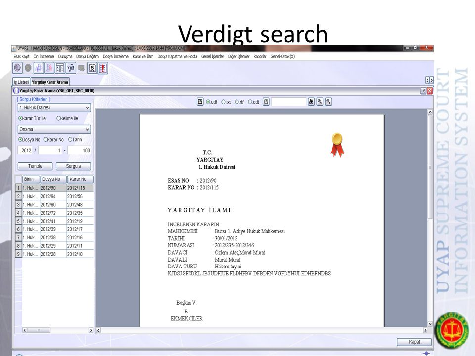 Verdigt search