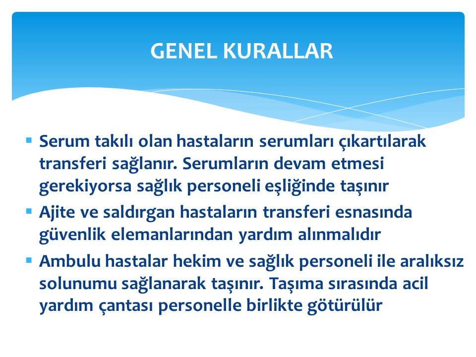 GENEL KURALLAR