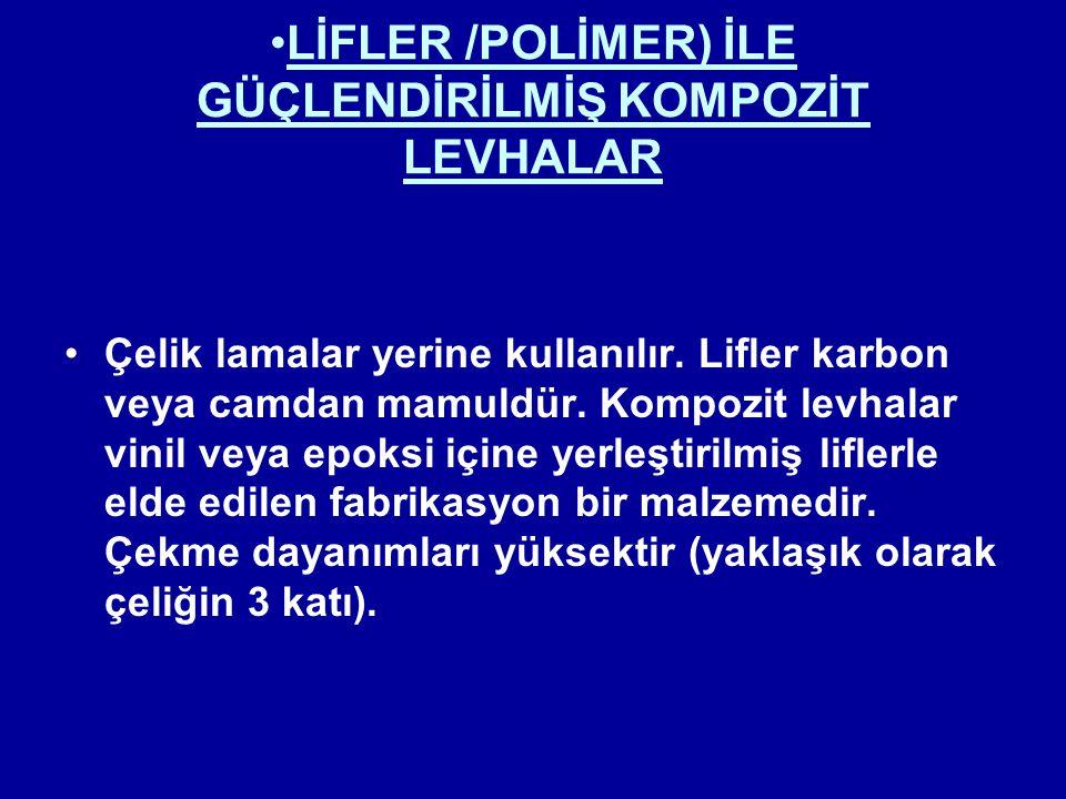 LİFLER /POLİMER) İLE GÜÇLENDİRİLMİŞ KOMPOZİT LEVHALAR