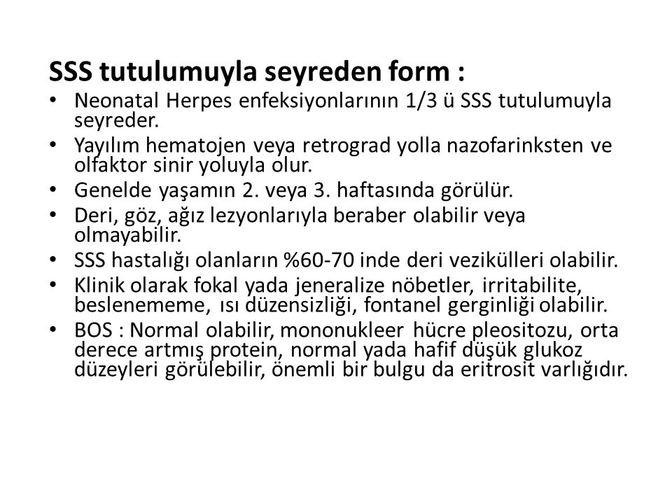 SSS tutulumuyla seyreden form :