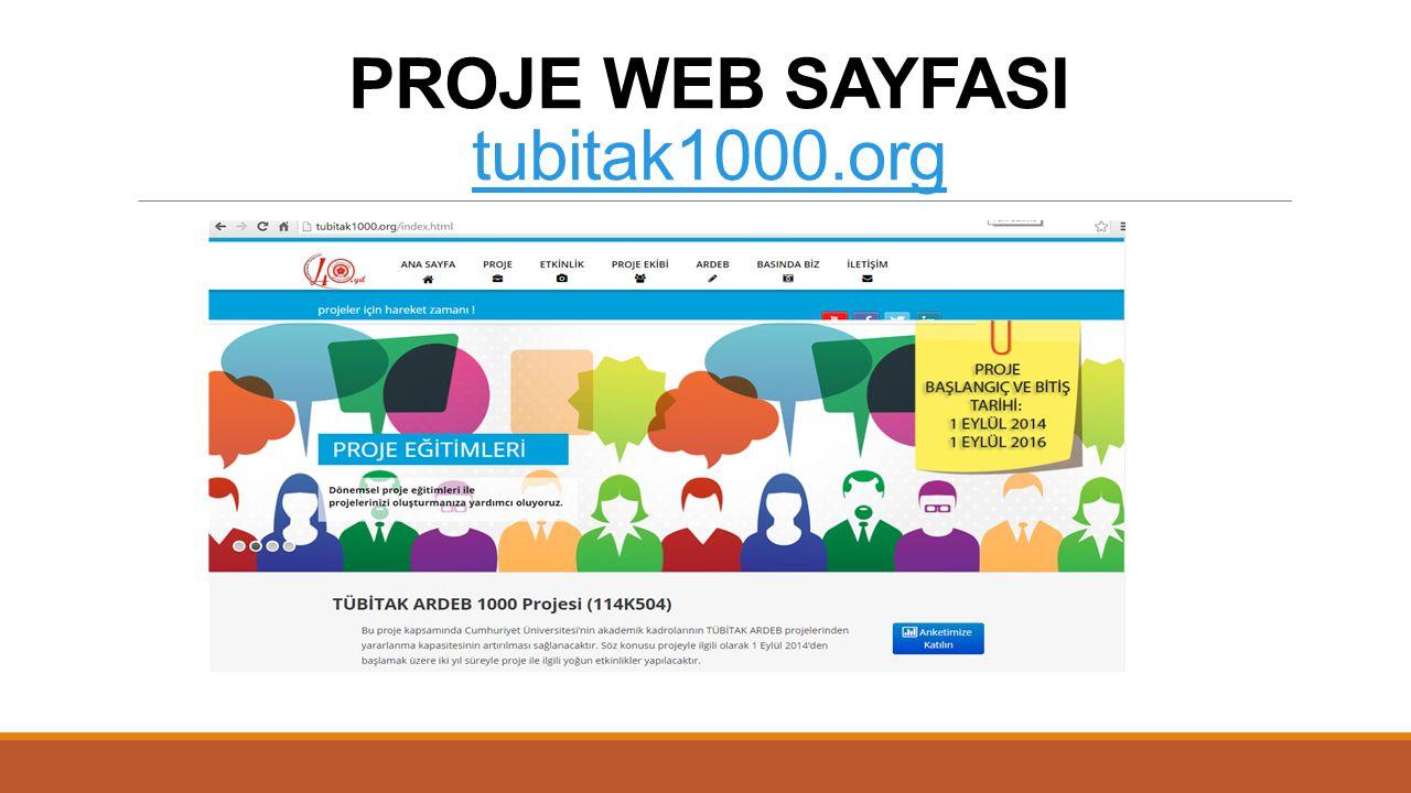 PROJE WEB SAYFASI tubitak1000.org