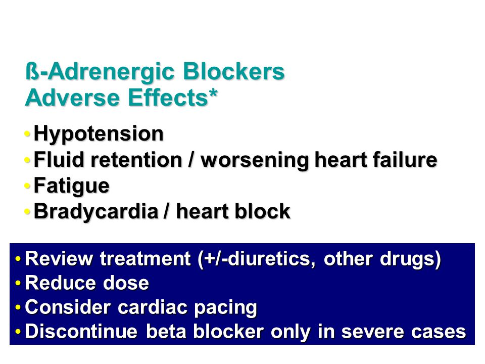 ß-Adrenergic Blockers Adverse Effects*