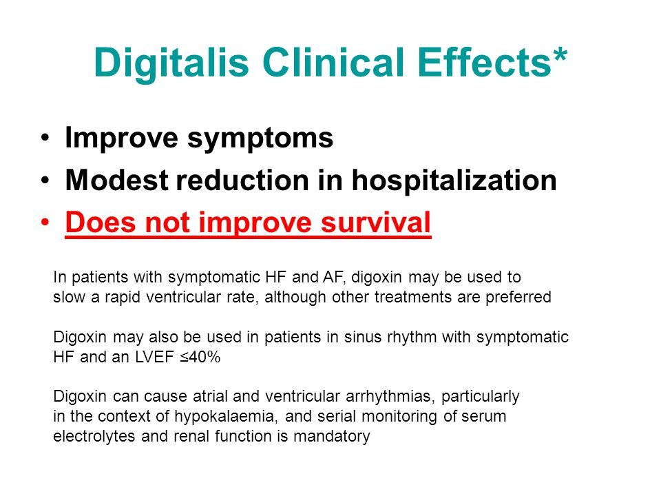 Digitalis Clinical Effects*