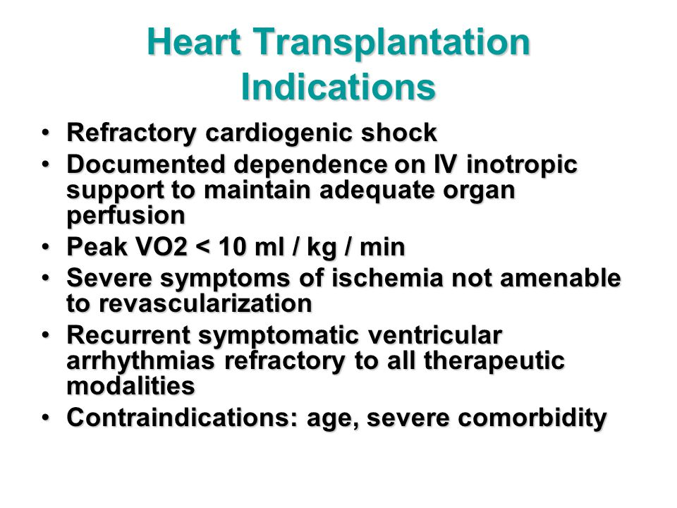Heart Transplantation Indications
