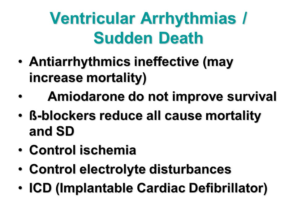 Ventricular Arrhythmias / Sudden Death