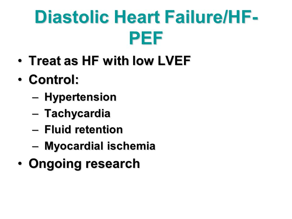 Diastolic Heart Failure/HF-PEF