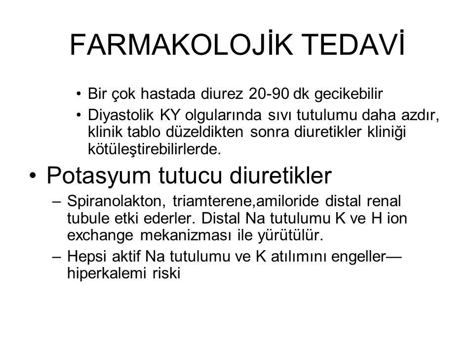 FARMAKOLOJİK TEDAVİ Potasyum tutucu diuretikler