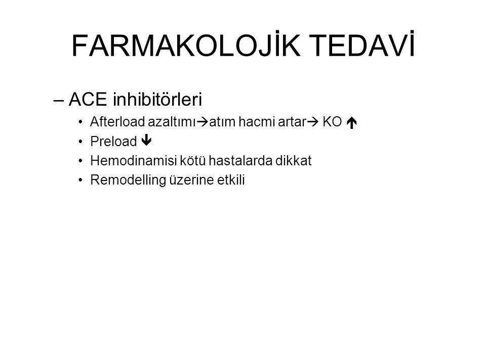 FARMAKOLOJİK TEDAVİ ACE inhibitörleri