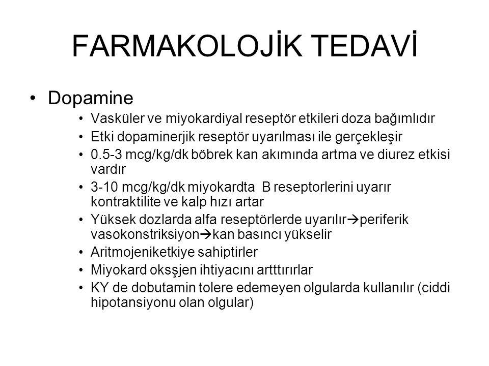 FARMAKOLOJİK TEDAVİ Dopamine