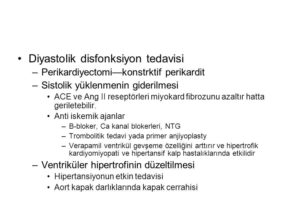 Diyastolik disfonksiyon tedavisi