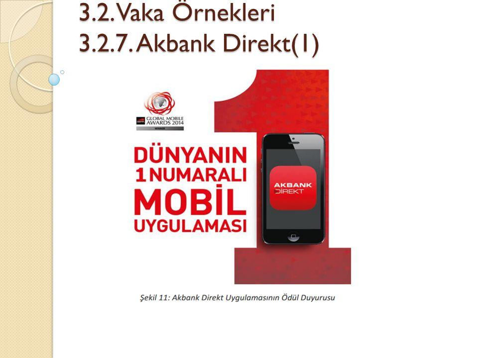 3.2. Vaka Örnekleri 3.2.7. Akbank Direkt(1)