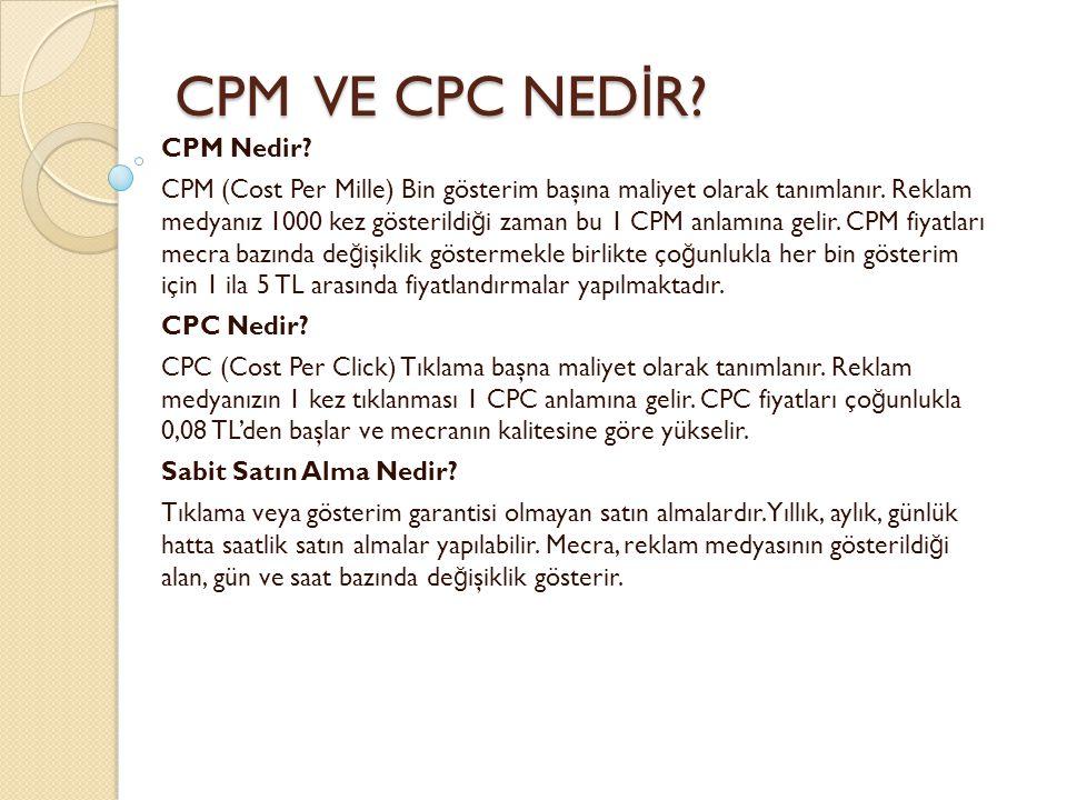 CPM VE CPC NEDİR CPM Nedir