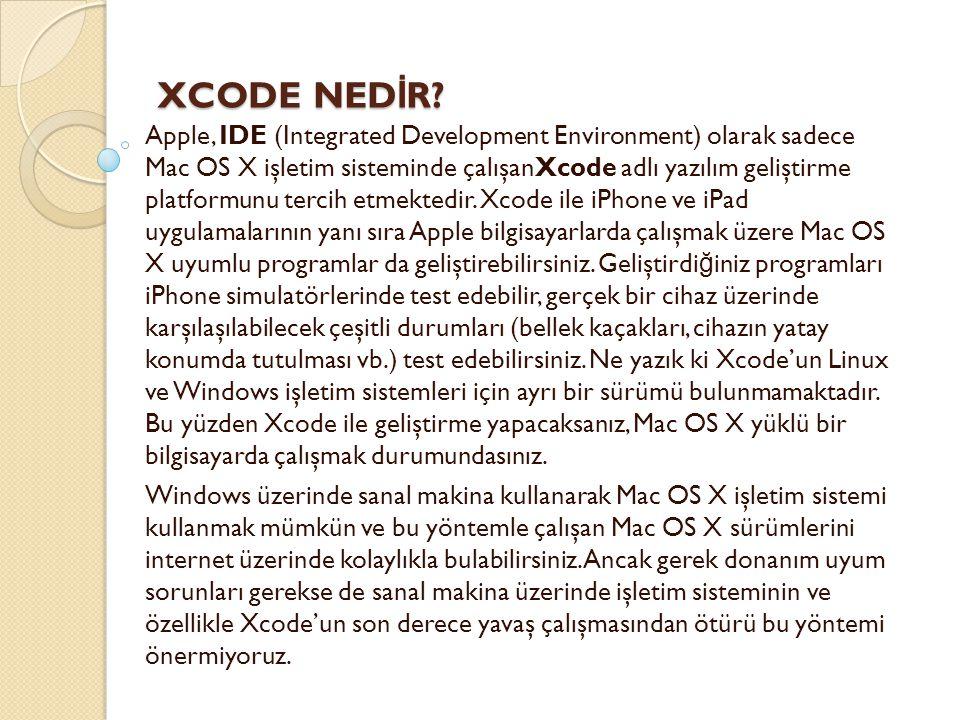XCODE NEDİR