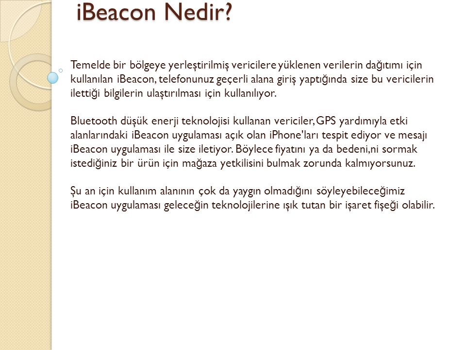 iBeacon Nedir
