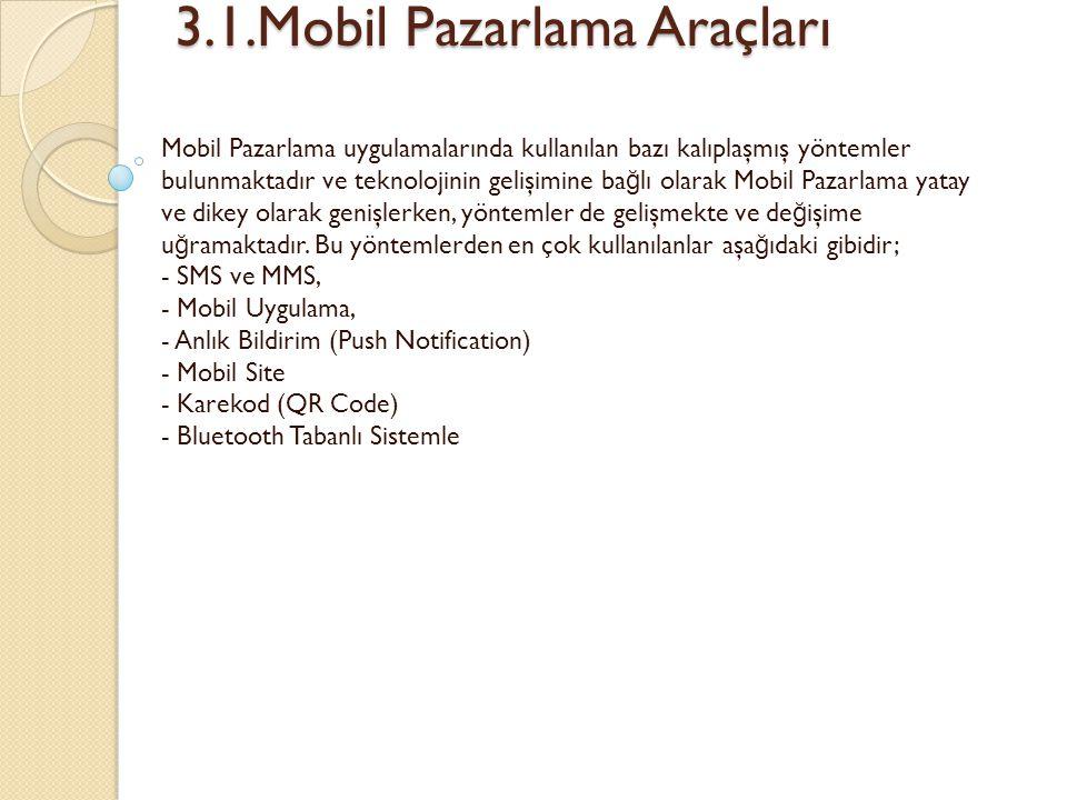 3.1.Mobil Pazarlama Araçları