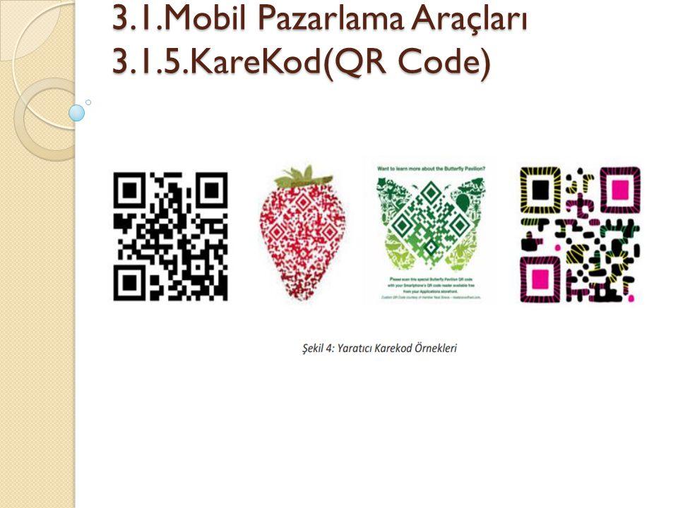 3.1.Mobil Pazarlama Araçları 3.1.5.KareKod(QR Code)