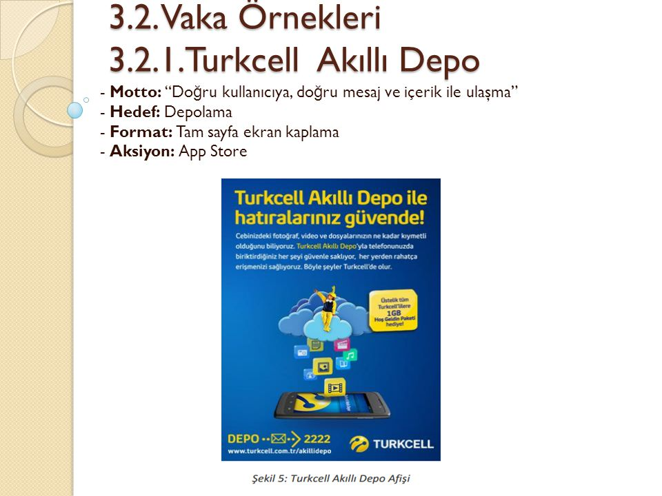 3.2. Vaka Örnekleri 3.2.1.Turkcell Akıllı Depo