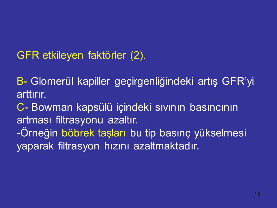 GFR etkileyen faktörler (2)