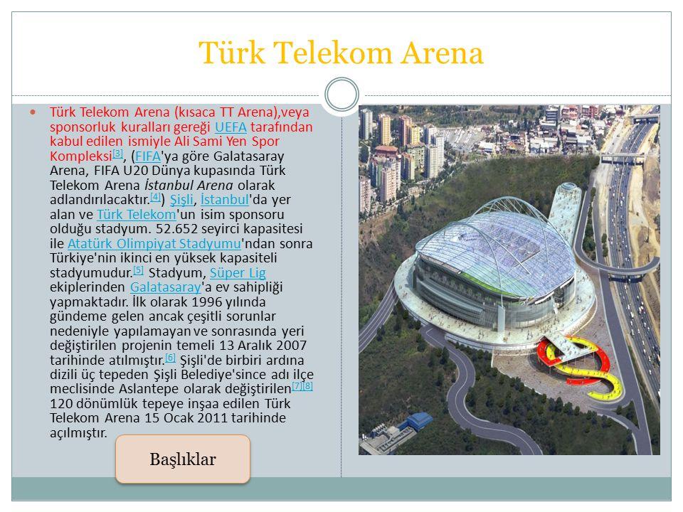Türk Telekom Arena Başlıklar