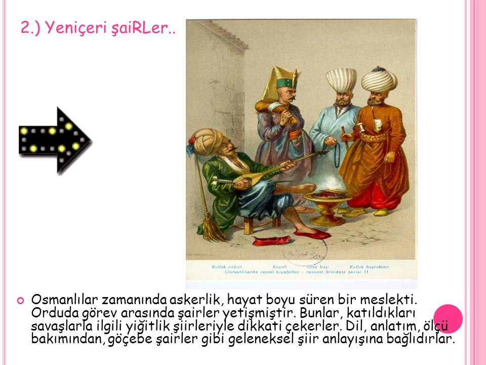2.) Yeniçeri şaiRLer..