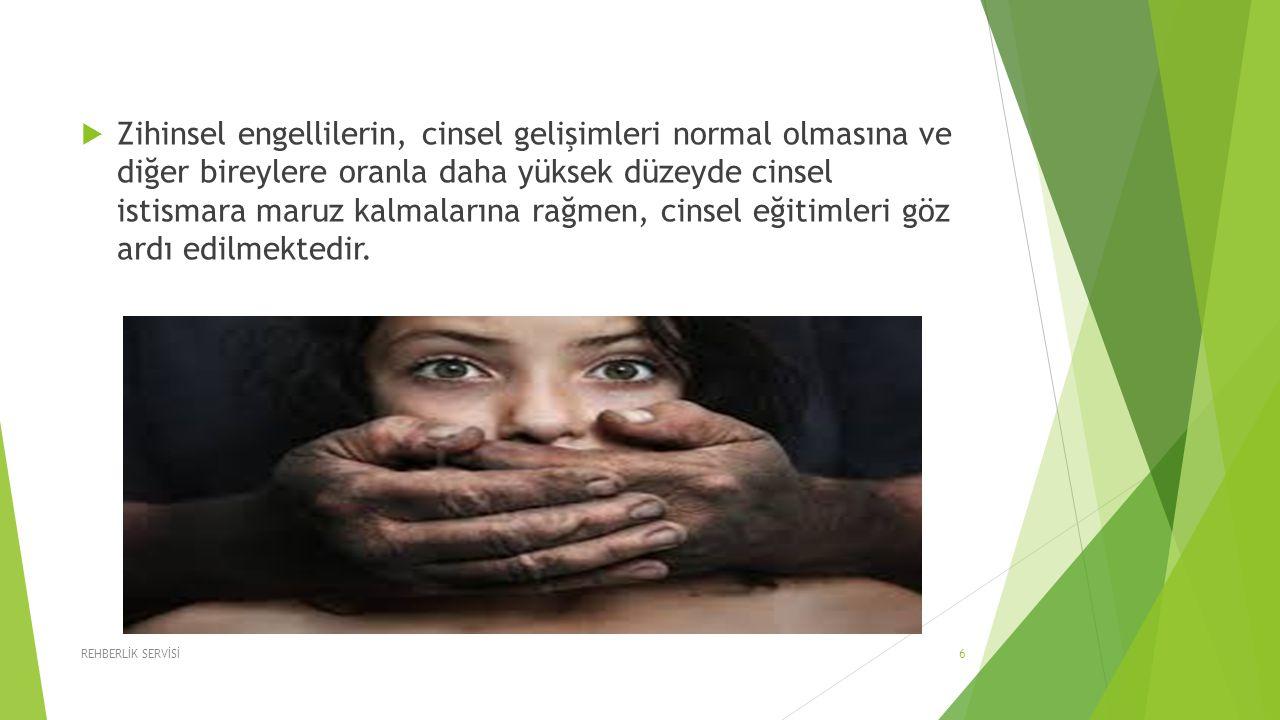 Zihinsel engellilerin, cinsel gelişimleri normal olmasına ve diğer bireylere oranla daha yüksek düzeyde cinsel istismara maruz kalmalarına rağmen, cinsel eğitimleri göz ardı edilmektedir.