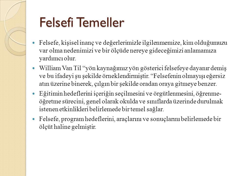 Felsefi Temeller