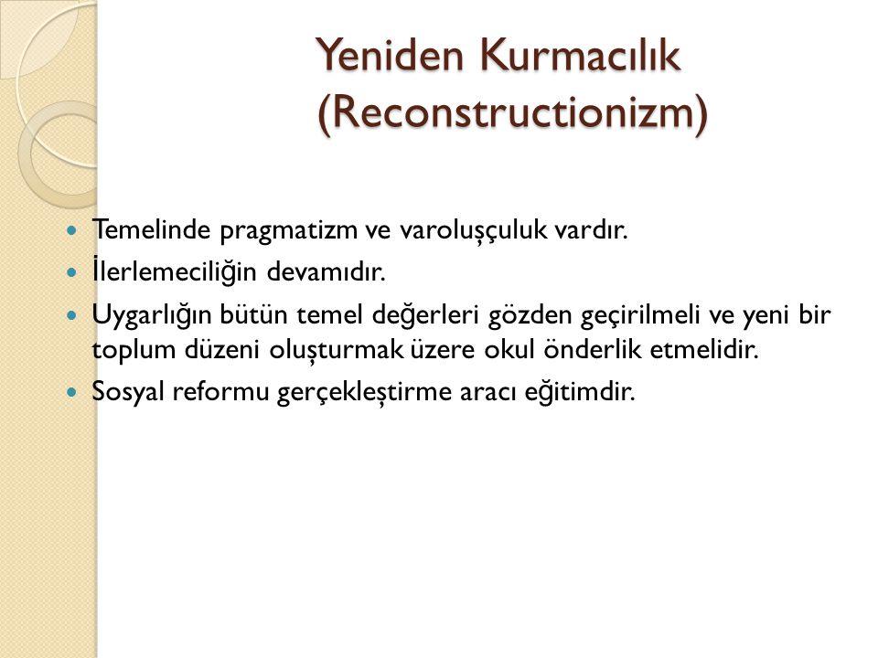 Yeniden Kurmacılık (Reconstructionizm)