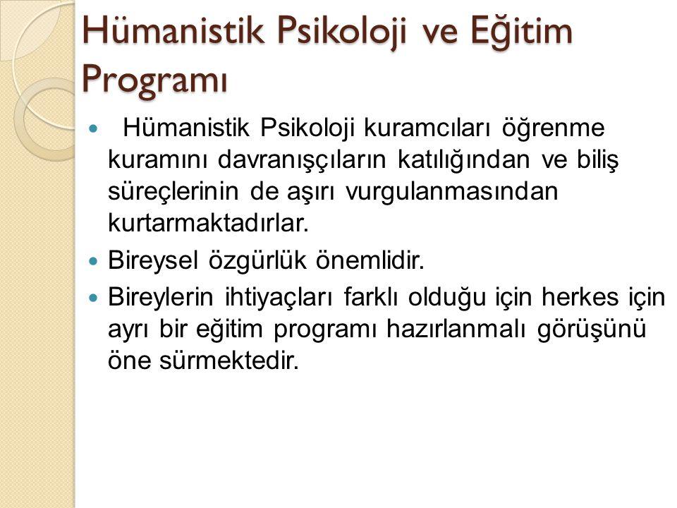Hümanistik Psikoloji ve Eğitim Programı