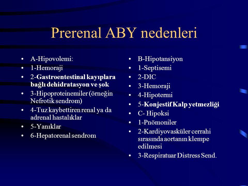 Prerenal ABY nedenleri