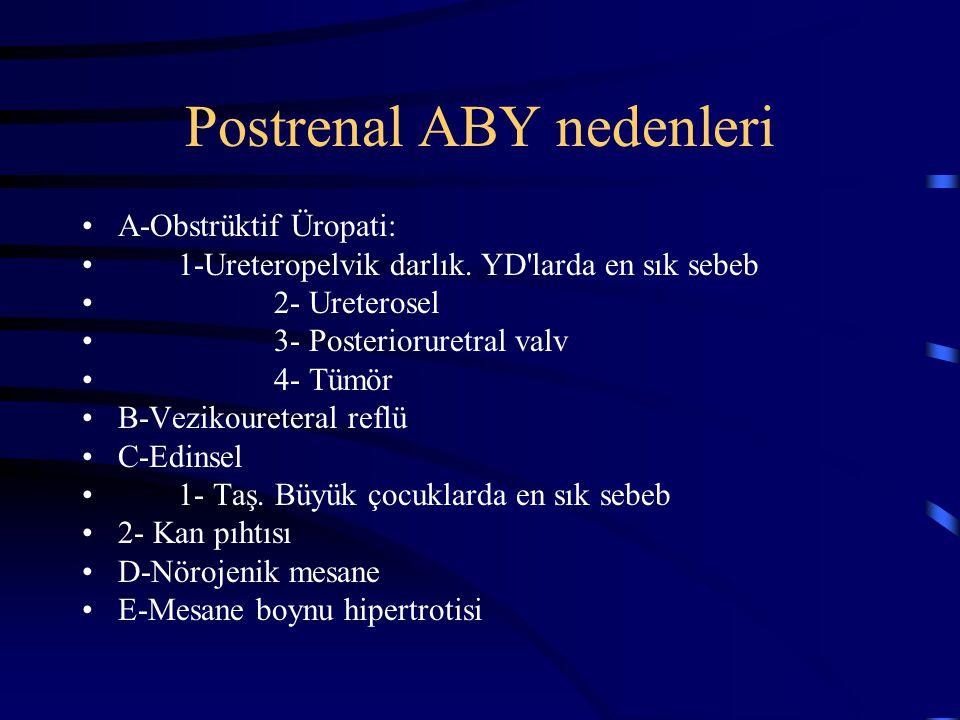 Postrenal ABY nedenleri