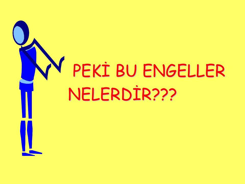 PEKİ BU ENGELLER NELERDİR