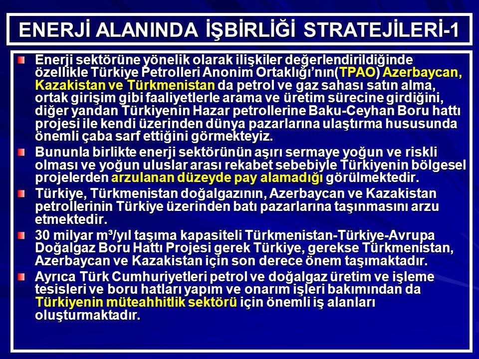 ENERJİ ALANINDA İŞBİRLİĞİ STRATEJİLERİ-1