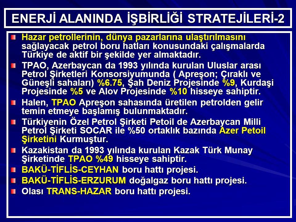 ENERJİ ALANINDA İŞBİRLİĞİ STRATEJİLERİ-2