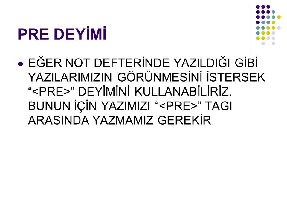 PRE DEYİMİ